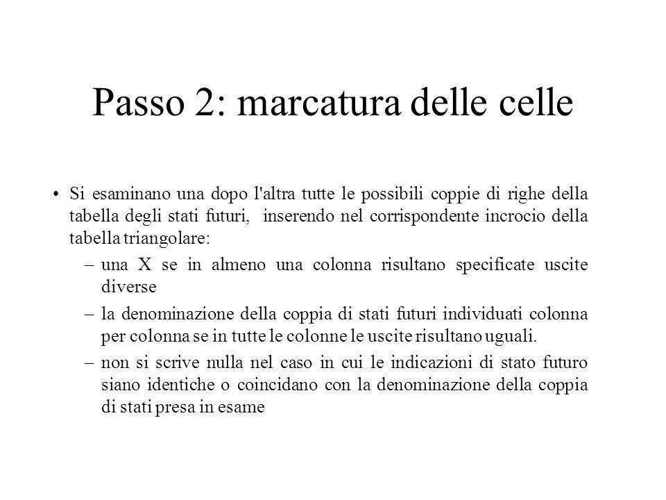 Passo 2: marcatura delle celle