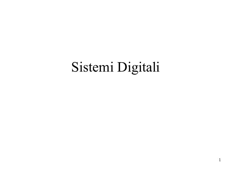 Sistemi Digitali
