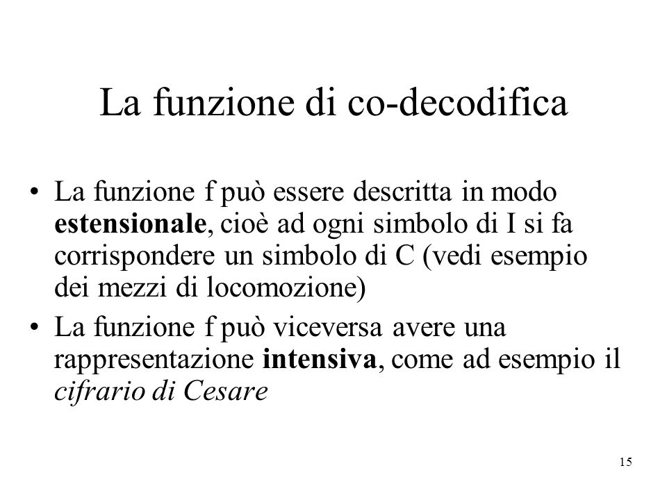 La funzione di co-decodifica