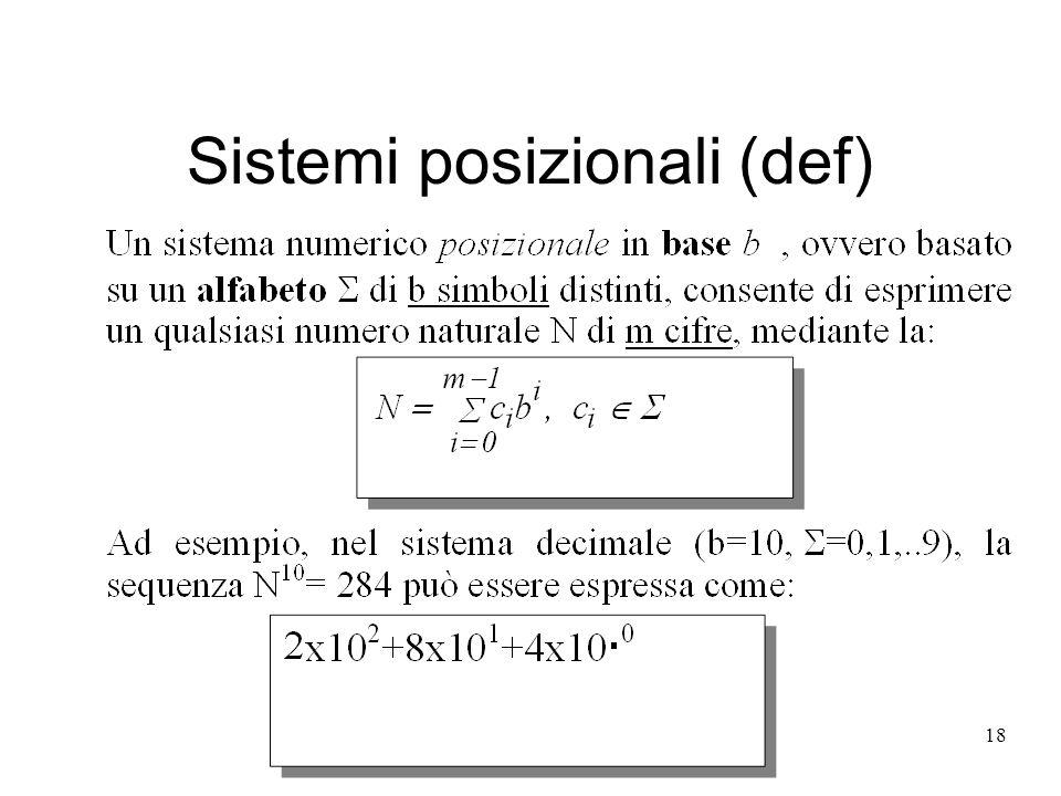 Sistemi posizionali (def)