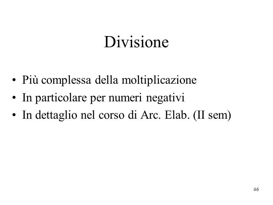 Divisione Più complessa della moltiplicazione