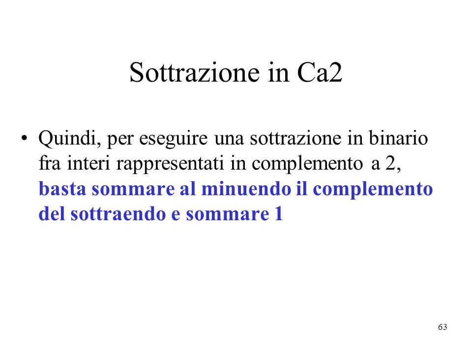Sottrazione in Ca2