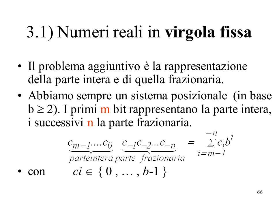 3.1) Numeri reali in virgola fissa