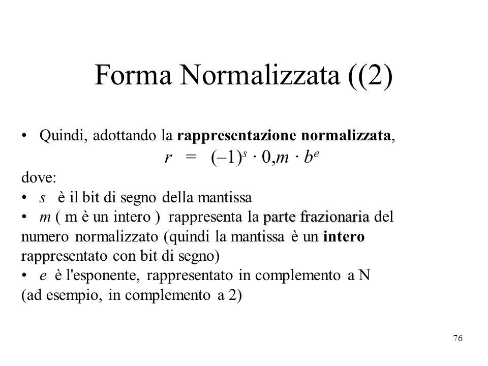 Forma Normalizzata ((2)