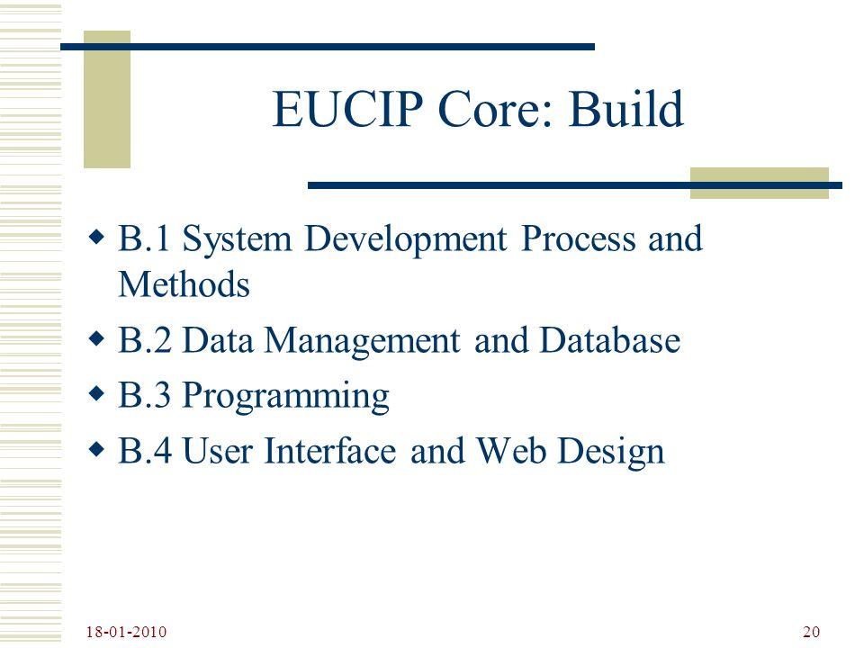 EUCIP Core: Build B.1 System Development Process and Methods