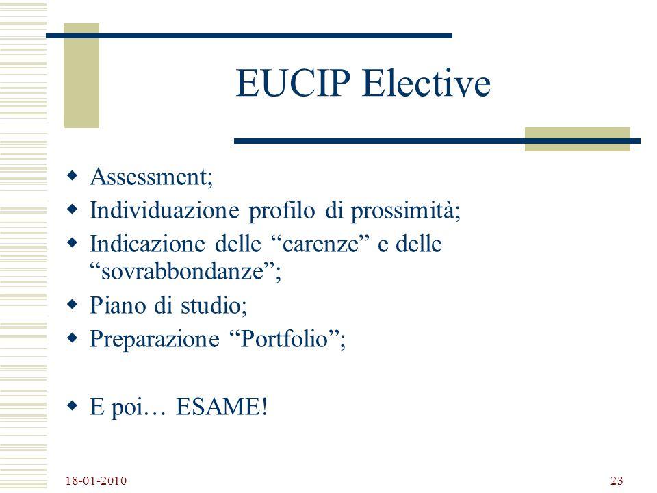 EUCIP Elective Assessment; Individuazione profilo di prossimità;