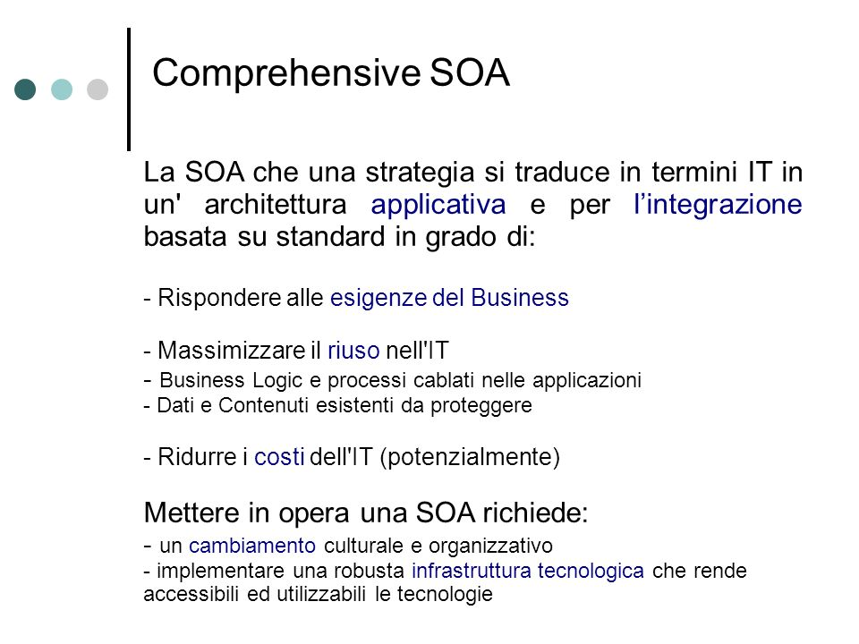 Comprehensive SOA
