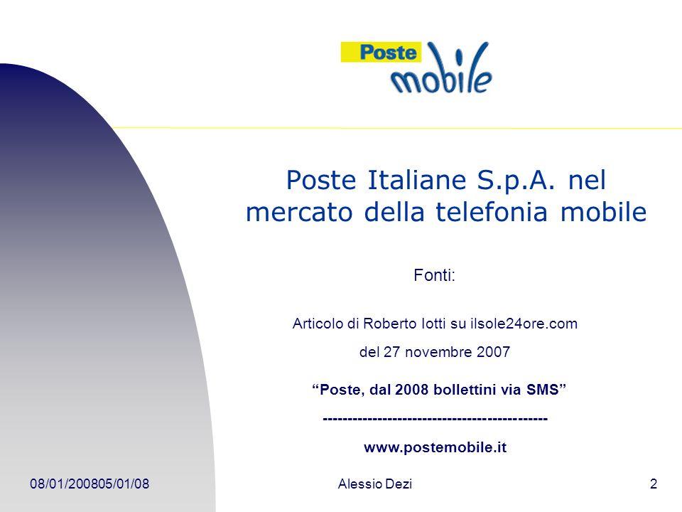 Poste Italiane S.p.A. nel mercato della telefonia mobile
