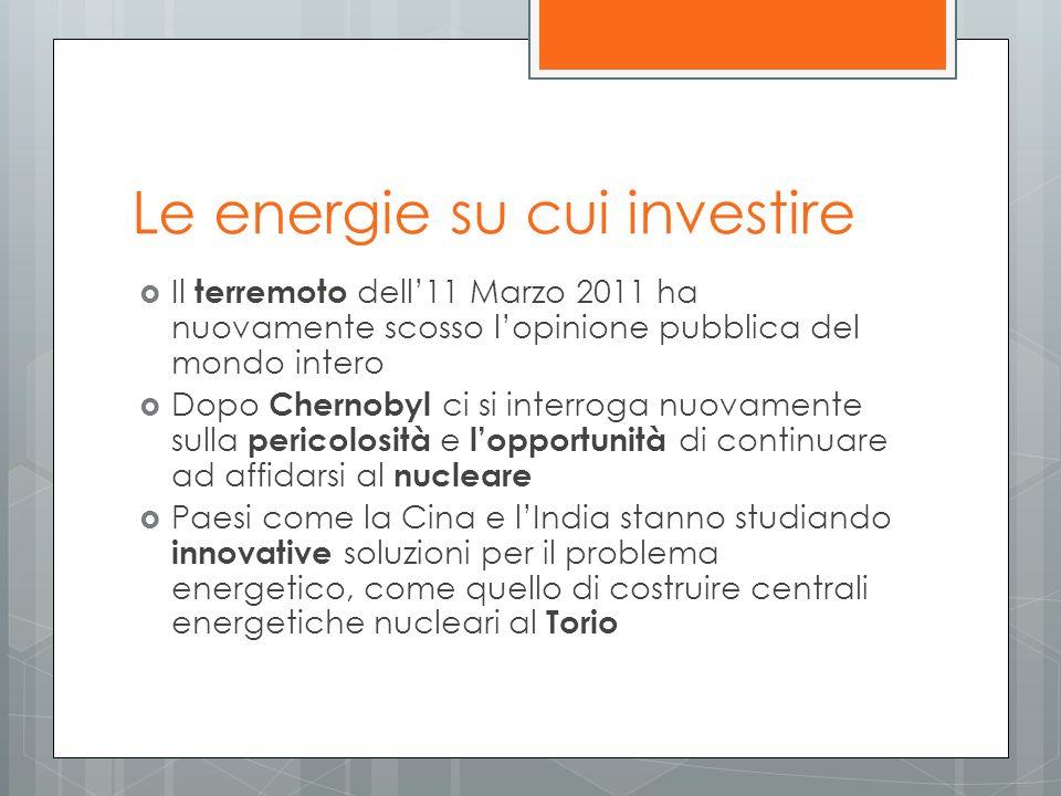 Le energie su cui investire
