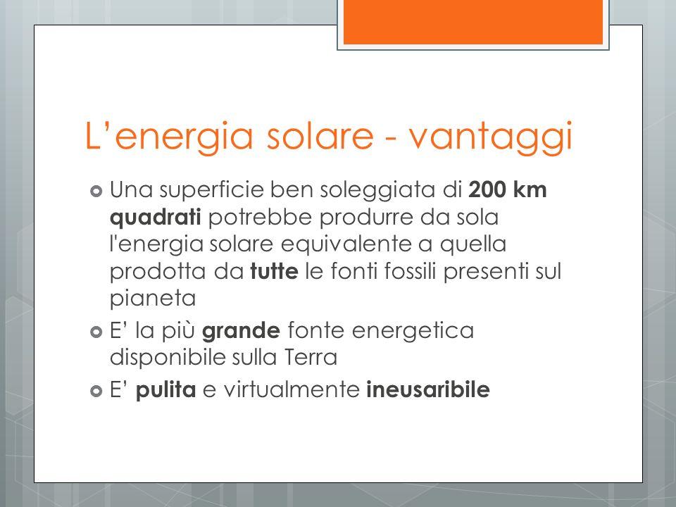 L'energia solare - vantaggi