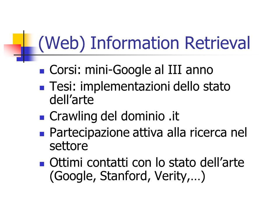 (Web) Information Retrieval