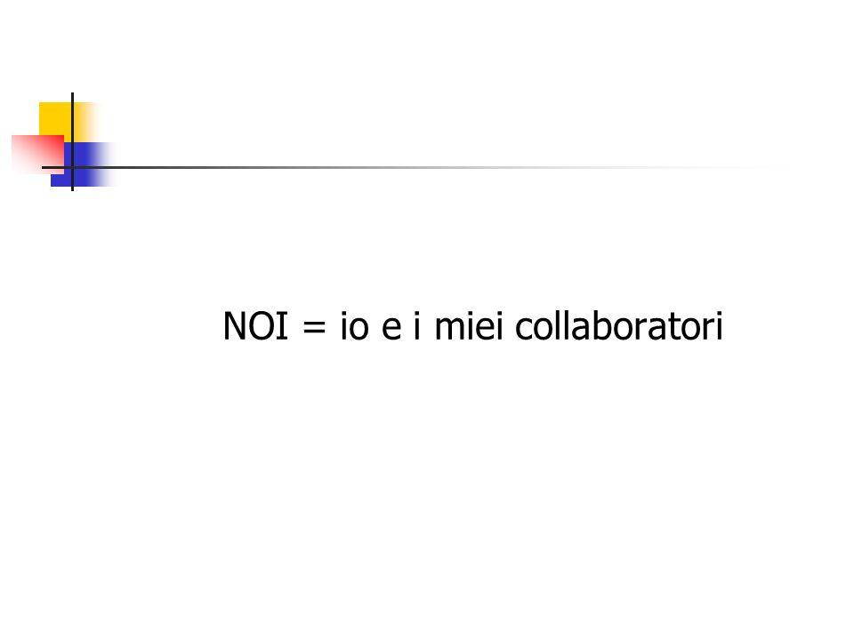 NOI = io e i miei collaboratori