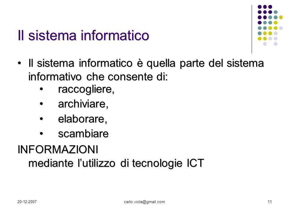 Il sistema informatico