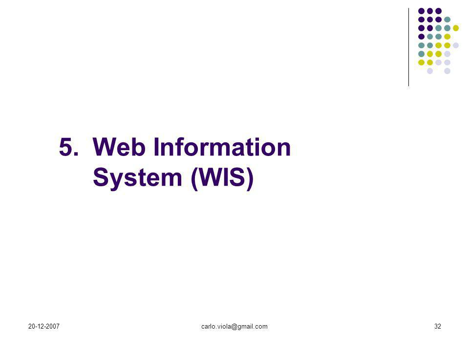 Web Information System (WIS)