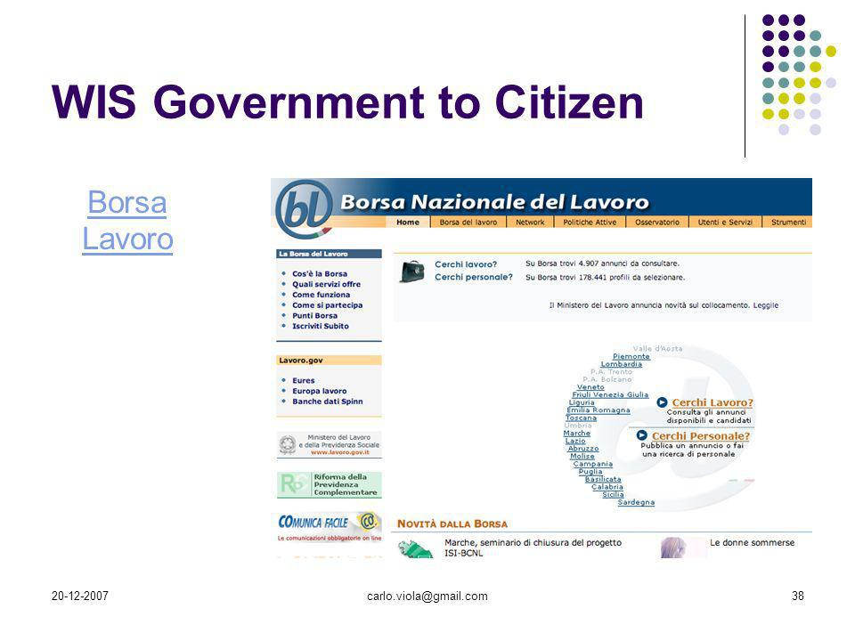 WIS Government to Citizen