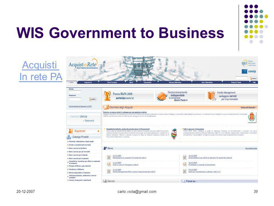 WIS Government to Business