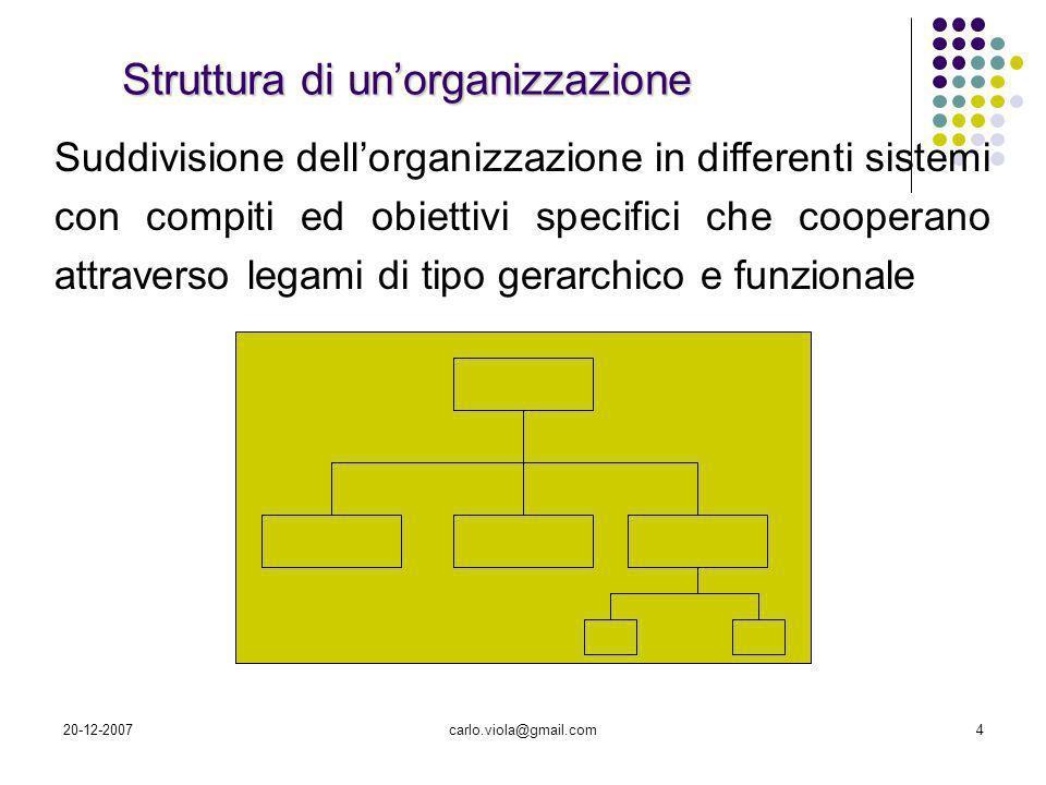 Struttura di un'organizzazione