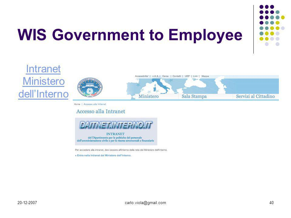 WIS Government to Employee