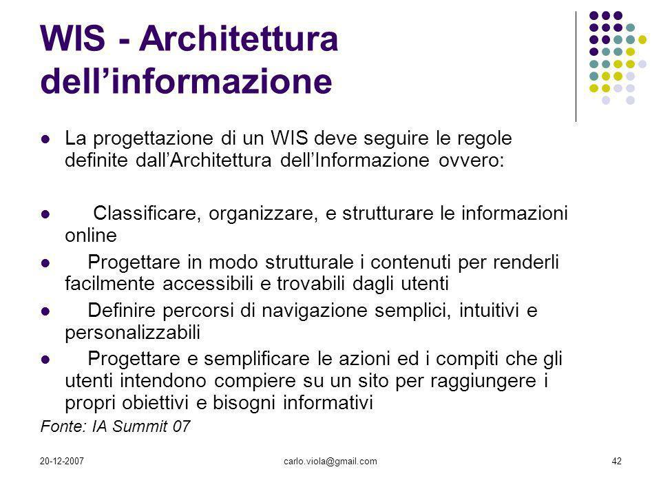 WIS - Architettura dell'informazione