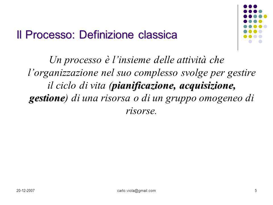 Il Processo: Definizione classica