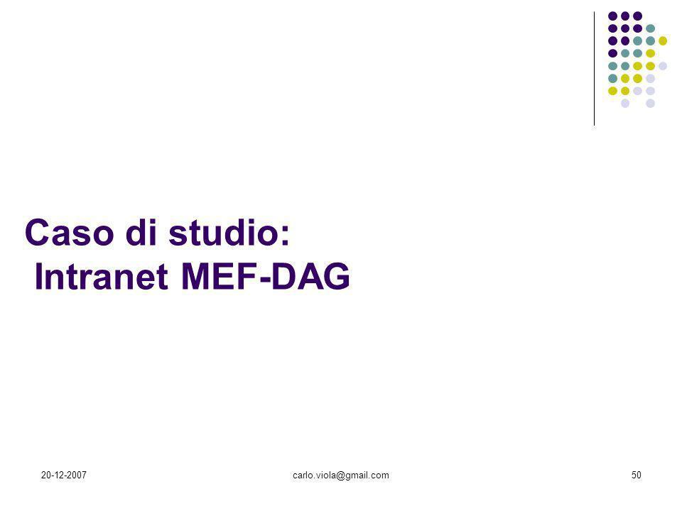 Caso di studio: Intranet MEF-DAG