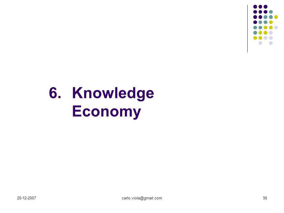 6. Knowledge Economy carlo.viola@gmail.com 20-12-2007