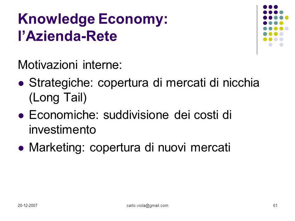 Knowledge Economy: l'Azienda-Rete