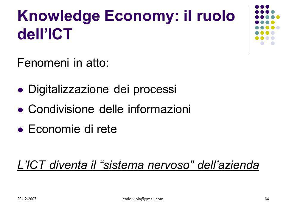 Knowledge Economy: il ruolo dell'ICT
