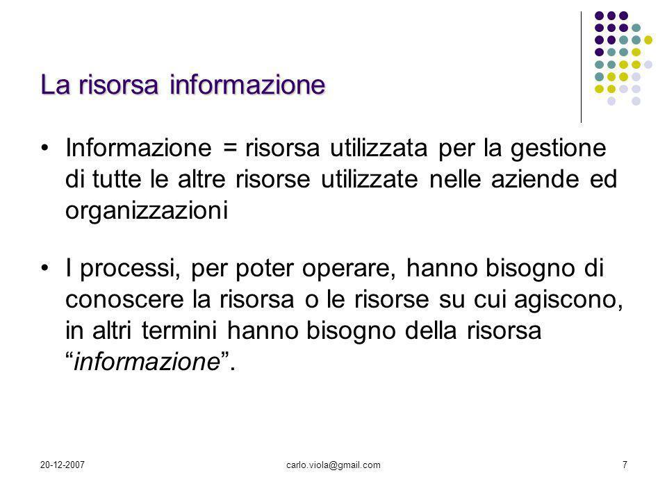 La risorsa informazione
