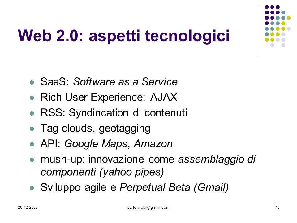 Web 2.0: aspetti tecnologici