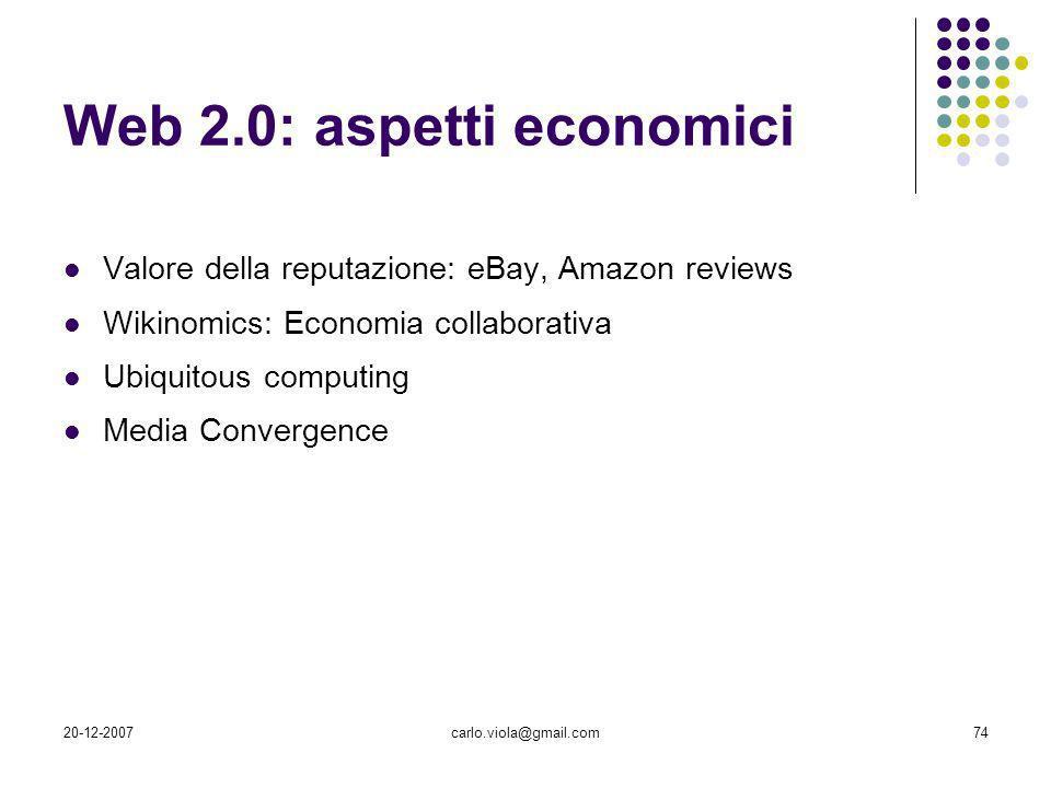 Web 2.0: aspetti economici