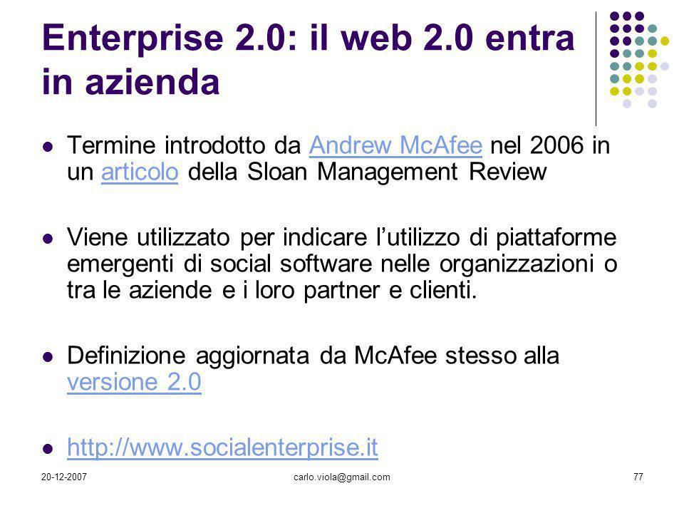 Enterprise 2.0: il web 2.0 entra in azienda