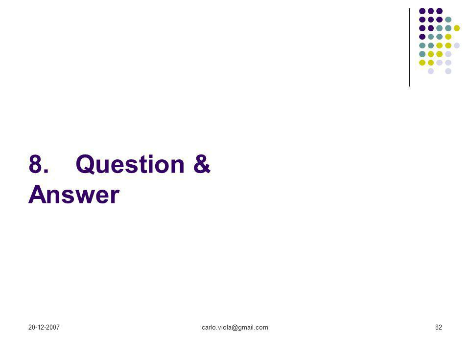 8. Question & Answer 20-12-2007 carlo.viola@gmail.com