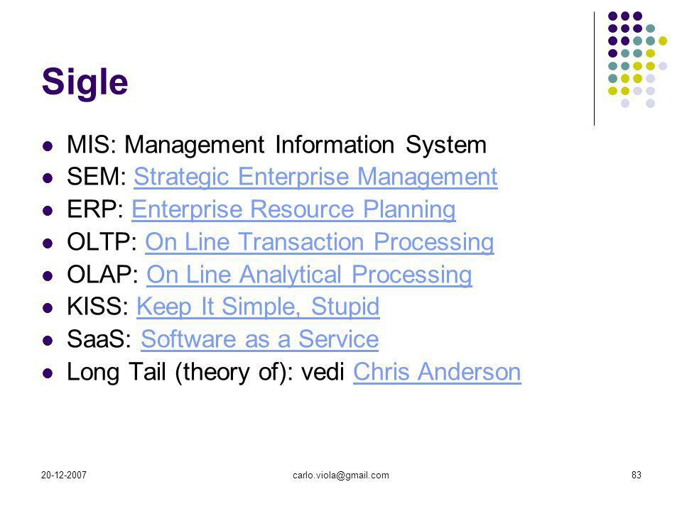 Sigle MIS: Management Information System