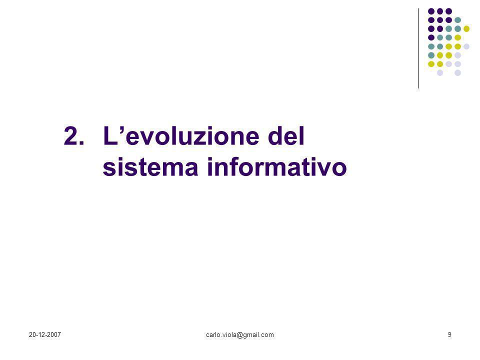 L'evoluzione del sistema informativo