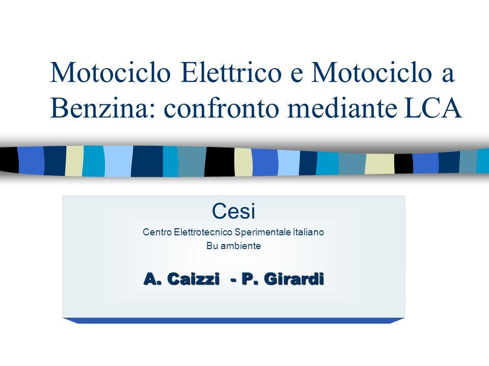Motociclo Elettrico e Motociclo a Benzina: confronto mediante LCA