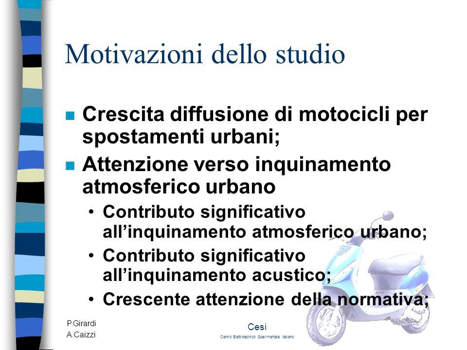 Motivazioni dello studio