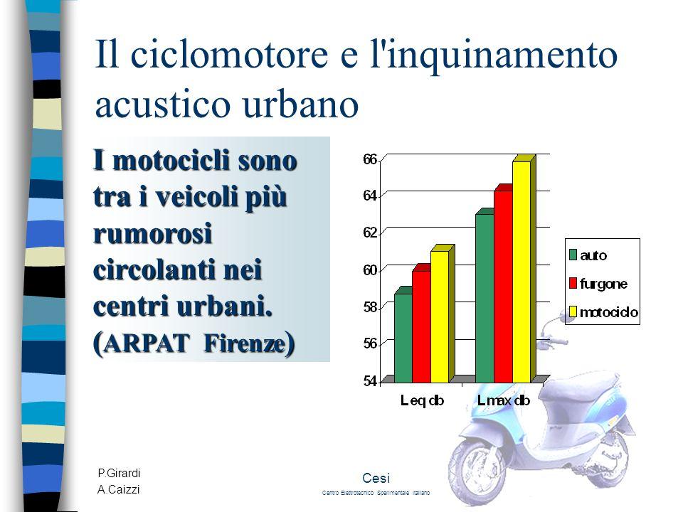Il ciclomotore e l inquinamento acustico urbano
