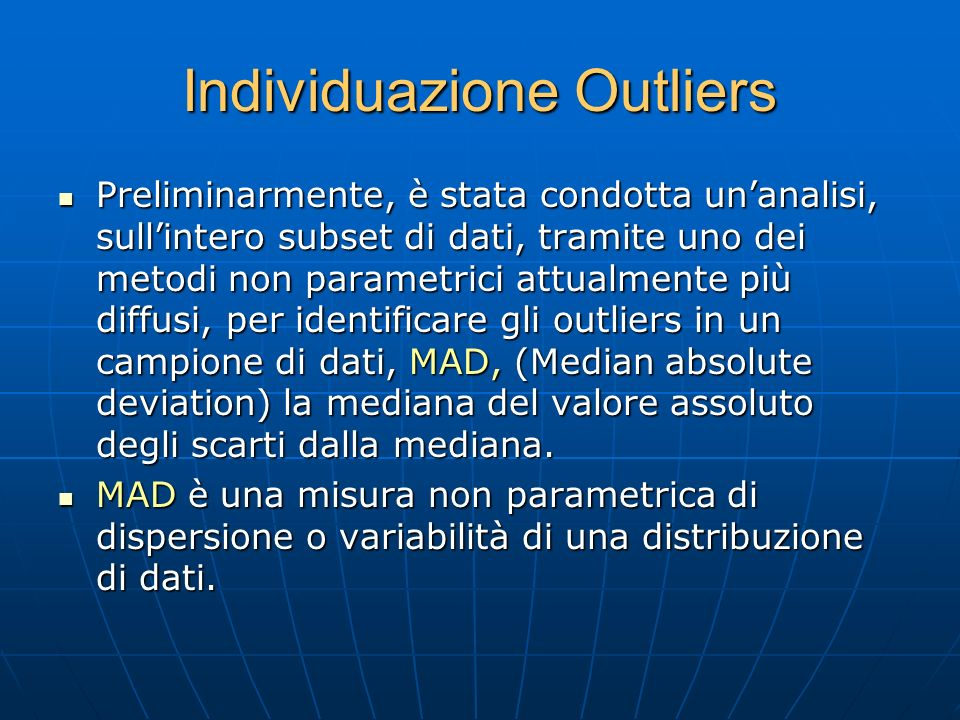 Individuazione Outliers