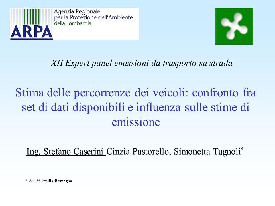 XII Expert panel emissioni da trasporto su strada