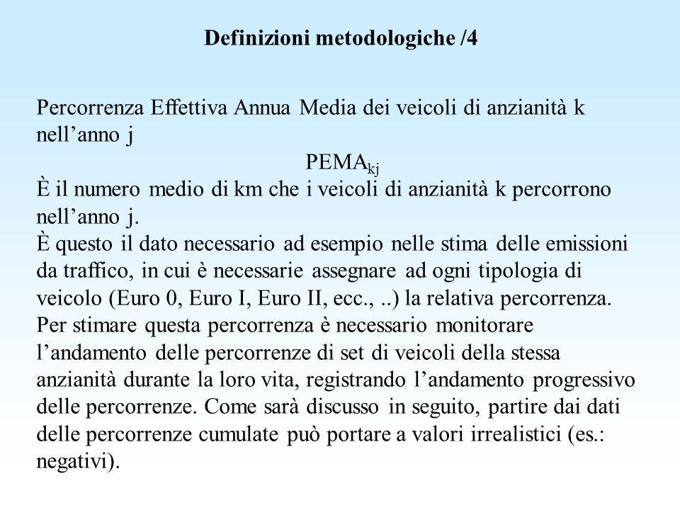 Definizioni metodologiche /4