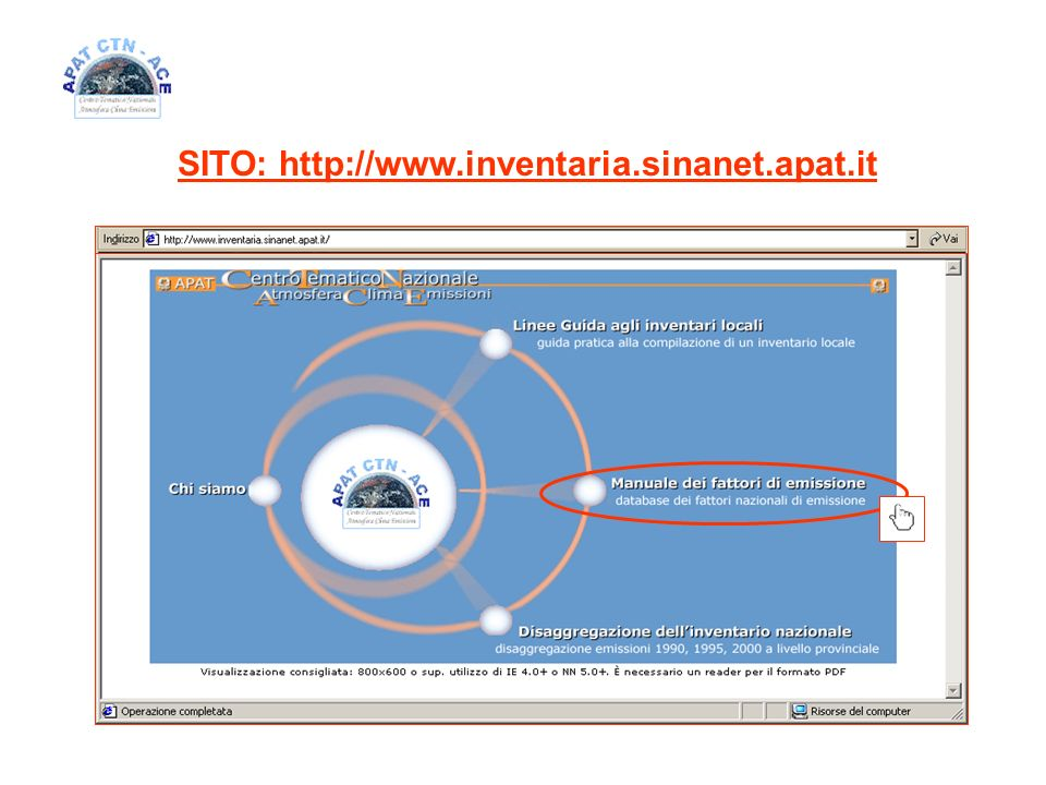 SITO: http://www.inventaria.sinanet.apat.it