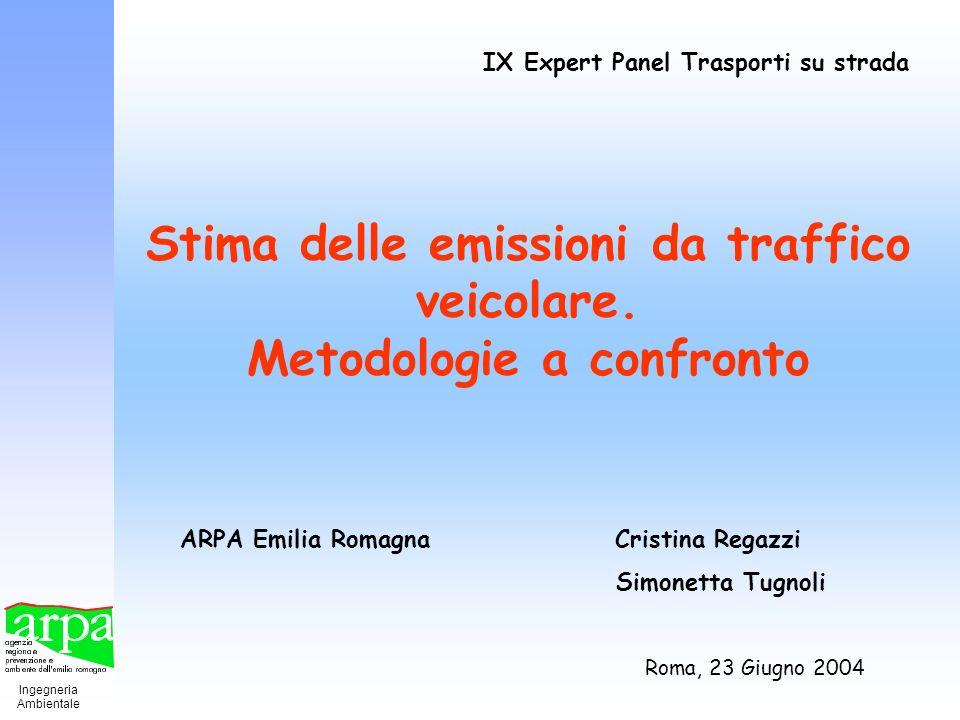 Stima delle emissioni da traffico veicolare. Metodologie a confronto