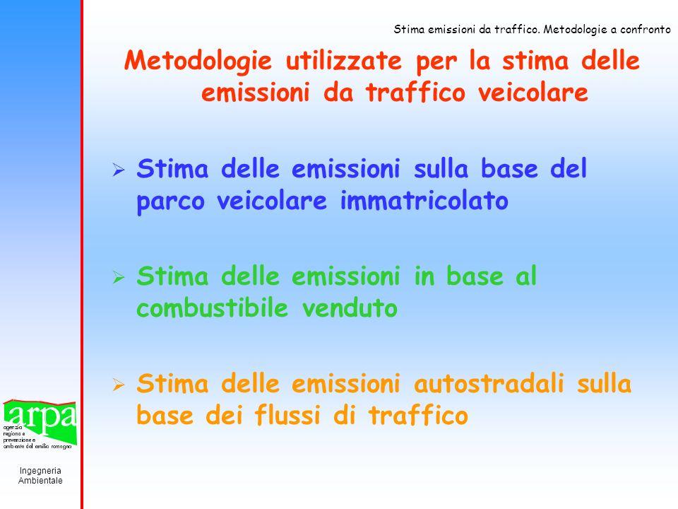 Metodologie utilizzate per la stima delle emissioni da traffico veicolare