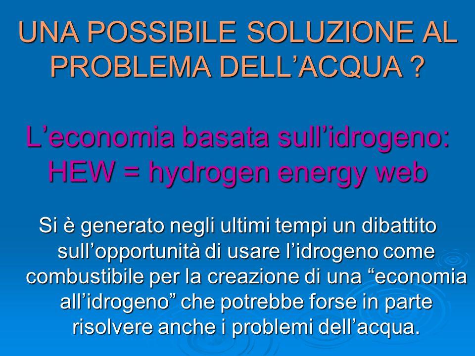 UNA POSSIBILE SOLUZIONE AL PROBLEMA DELL'ACQUA