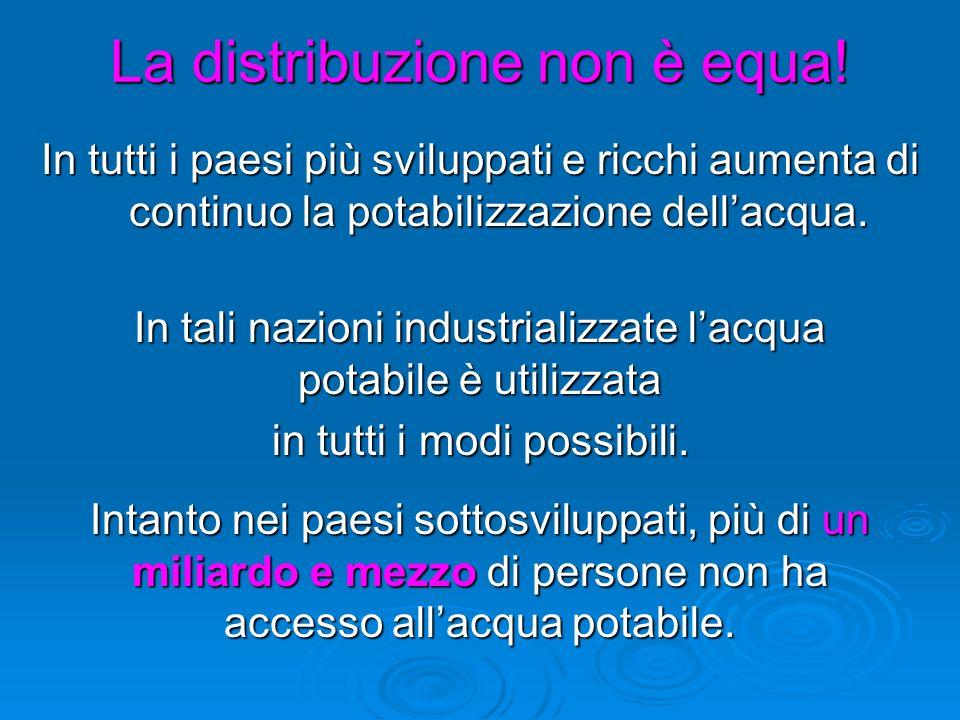 La distribuzione non è equa!