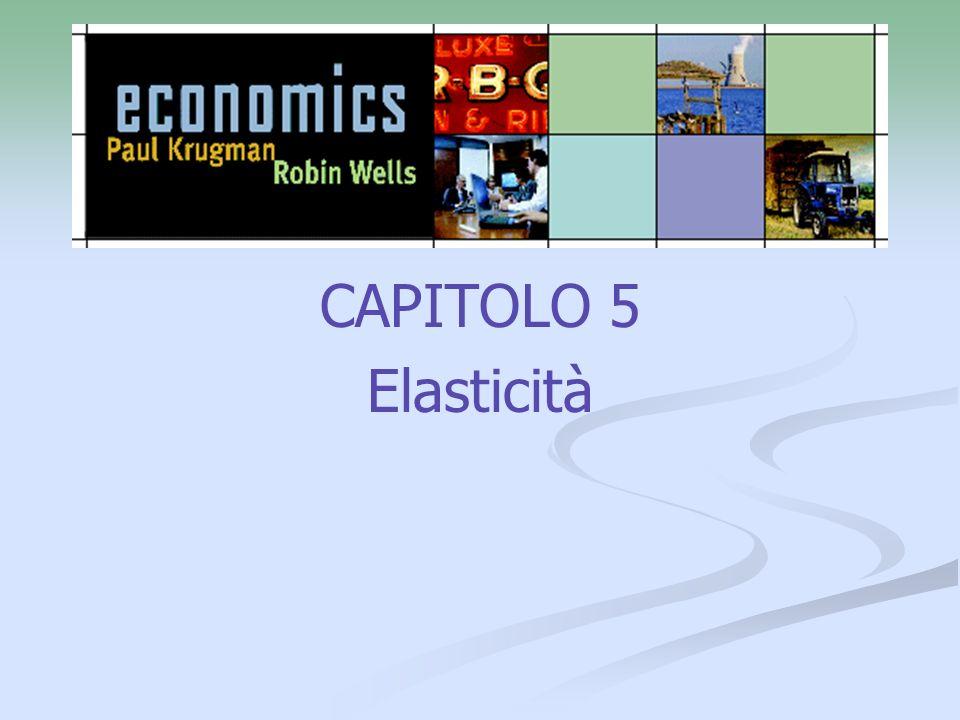 CAPITOLO 5 Elasticità