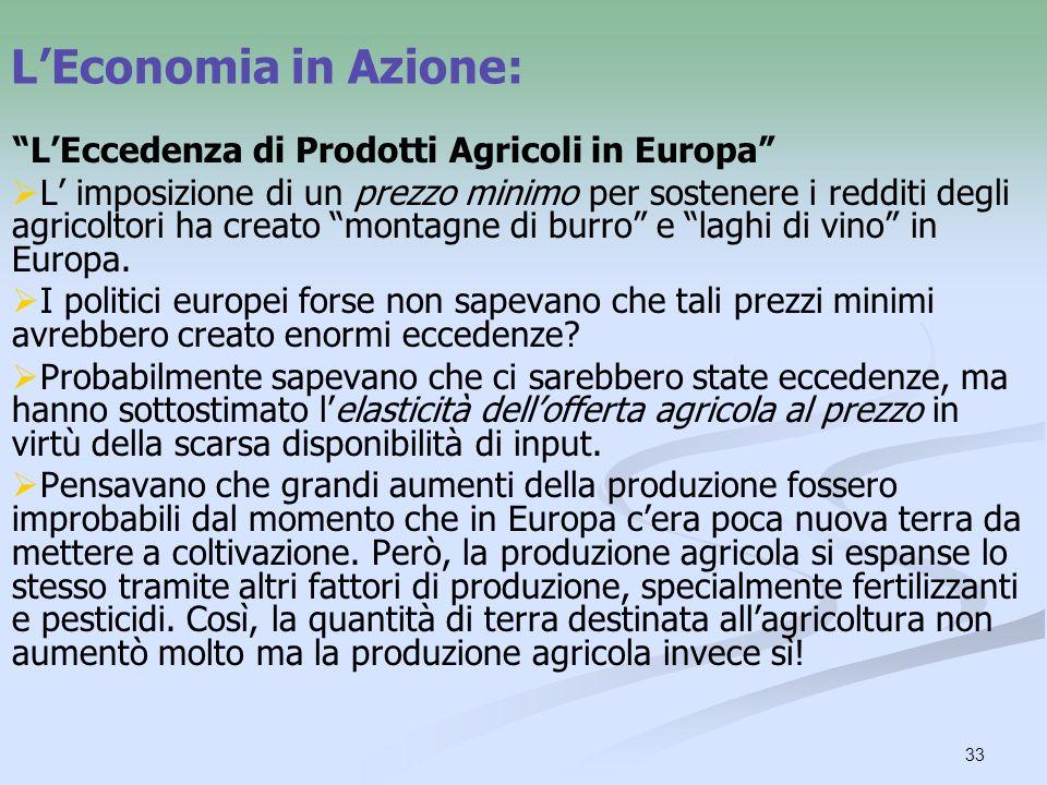 L'Economia in Azione: L'Eccedenza di Prodotti Agricoli in Europa