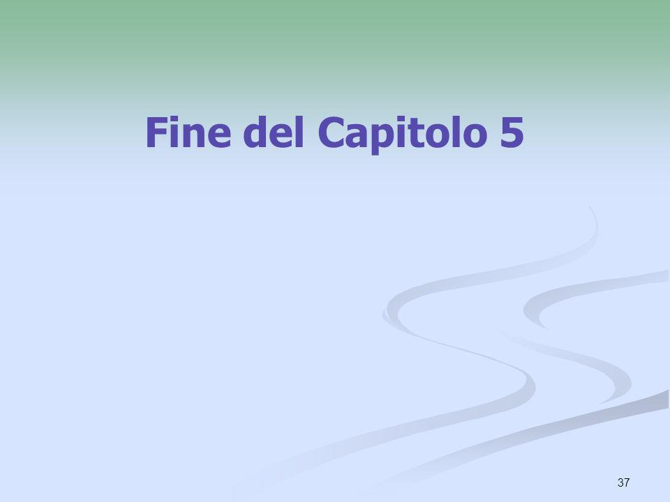Fine del Capitolo 5