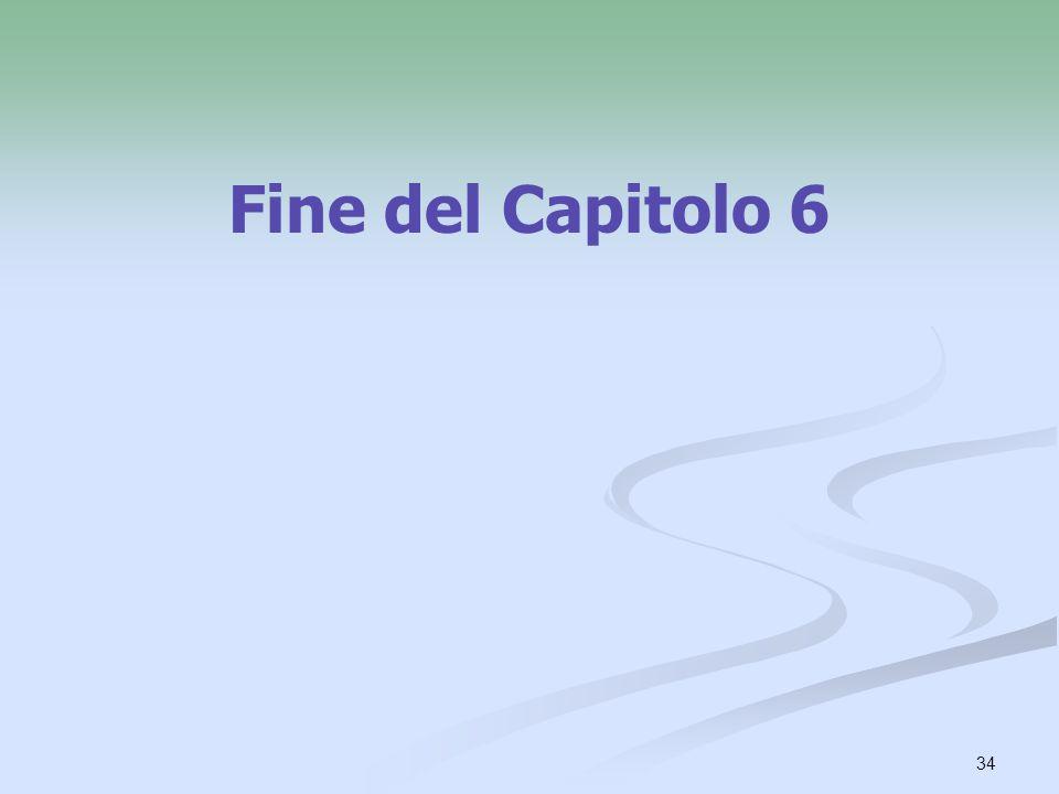 Fine del Capitolo 6